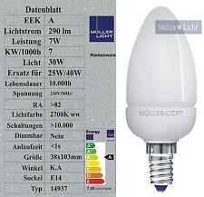 Sonderposten 7W Energiesparlampe E14 Kerze (30W Licht) Ultramini 290lm warmweiß
