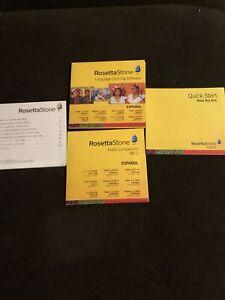 Rosetta Stone Spanish (Latin America) Level 1-4 Set SEALED No Activation Card