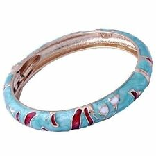 Noble Womens Rose Gold Filled Enamel Cuff Band Bangle Bracelet wholesale