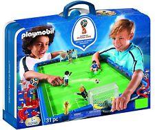 Playmobil Fútbol 9298. Campo de fútbol en maletín. Fifa World Cup Russia.