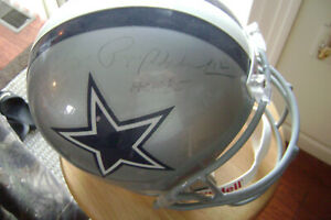 Roger Staubach Auto Dallas Cowboys Full Size Helmet HOF 85 Dallas Cowboys COA