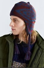 NEW URBAN OUTFITTERS PENDLETON AZTEC PRINT FLEECE LINED KNIT TRAPPER WINTER HAT
