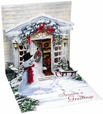 Treasure Pop Up Greeting Card and Gift Card Holder - HOLIDAY DOOR - Snowman