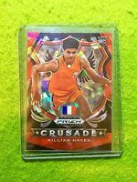 KILLIAN HAYES RED ICE PRIZM CRUSADE ROOKIE CARD JERSEY #3 FRANCE RC PISTONS 2020