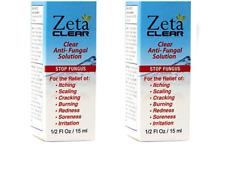 2x ZETA CLEAR Fungal Nail Treatment Kills 99.9% of Nail Fungus BNIB