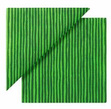 Marimekko Paper Cocktail Beverage Napkins Varvunraita Green Stripe 20 Count