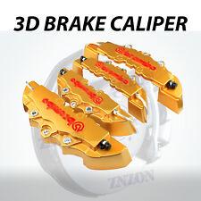 4pcs Gold 3D Disc Brake Caliper Cover Kit For Mercedes-Benz C200 C300 CLS SL AMG