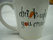 "(12) DEKUYPER SCHNAPPS - ""DRINK WHAT YOU CRAVE"" PROMO CERAMIC COFFEE MUG *NEW*"