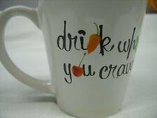 "(12) DEKUYPER SCHNAPPS - ""DRINK WHAT YOU CRAVE"" PROMO CERAMIC COFFEE MUG *NEW*"