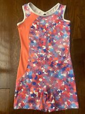 Danskin Now Gymnastics Biketard, Size M (7-8), Pink, Blue, Purple