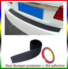 Car Rear Trunk Guard Plate Bumper Sill Protector Plate Rubber Cover Trim Black