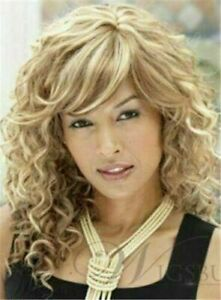 The Same Hairstyle Of Tess Long Curly Blonde Natural Wig Hair 16 In