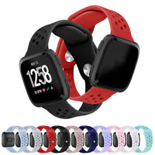Accessory L/S Sports Silicone Watch Wrist Band Air Hole For Fitbit Versa 2/Lite