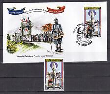 Nouvelle Caledonie 2019 WWI Retour des combattants FDC + stamp Luxe RARE