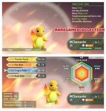 Pokemon Let's Go Pikachu & Eevee ✨ SHINY ✨ 6 IV 1 LEVEL CHARMANDER FAST DELIVERY