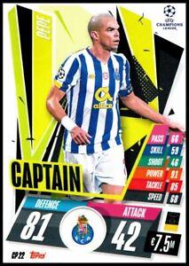 2020/21 TOPPS MATCH ATTAX CP22 PEPE CAPTAIN FC PORTO CARD