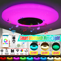 18/36/72W DIMMBAR RGB LED APP Deckenleuchte Lampe bluetooth Lautsprecher