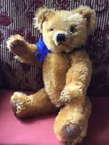 VIntage Merrythought Teddy Bear. 1940s. Antique/Old. Very Handsome.