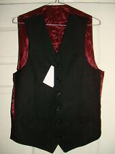 Woolen Regular Length Striped Waistcoats for Men