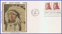 US #1855 U/A COLORANO SILK FDC STR2  Crazy Horse