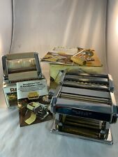 MARCATO Atlas Pasta Noodle Maker Machine Model 150 & Ravioli Raviolissima
