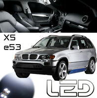PACK BMW E53 X5 12 Ampoules LED Blanc plafonnier Habitacle Miroir sols tapis