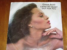 """DIANA ROSS *RARE 7"""" 45 ' CRYIN' MY HEART OUT FOR YOU ' 1981 VGC"""