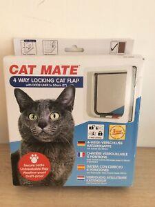 White Cat mate 4 way locking cat flap 235W