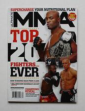 ULTIMATE MMA MAGAZINE GSP ANDERSON SILVA JON JONES TOP 20 FIGHTERS EVER