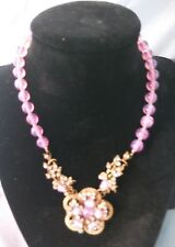 VINTAGE ART DECO LADIES NECKLACE  SIGNED BY   MIRIAM HASKELL CLASSIC.