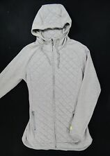 The North Face Cotton/Polyester Full Zip Hoodie Jacket (Mens Medium) Gray