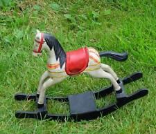 Ancien Petit en Bois Arc cheval à bascule Magnifiquement sculpté 24 cm haute