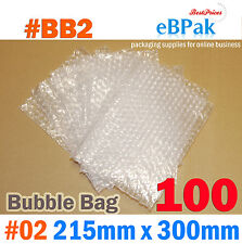 Bubble Pouch BAG : 100pcs #02 215X300mm Clear Bubble Wrap Bags #BB0