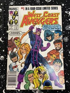 West Coast Avengers #1 1st App & Origin West Coast Avengers 1984 NEWSSTAND