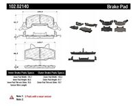 Disc Brake Pad Set-C-TEK Metallic Brake Pads-Preferred Front Centric 102.00900