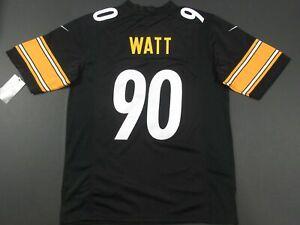 New T.J. Watt #90 Pittsburgh Steelers On-Field Game Team Jersey Black