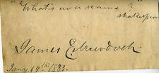 JAMES E. MURDOCH - AUTOGRAPH QUOTATION SIGNED 01/19/1883