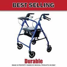 Cardinal₆Rollator Foldable Walker with Wheels Soft Seat Lightweight Aluminum!!