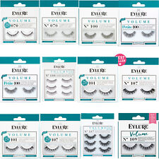 Eylure VOLUME False Reusable Eyelashes + Glue/Adhesive Lash Extra Volume + Curl