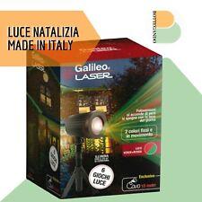Proiettore luci laser MADE IN ITALY rosso e verde esterno 6 giochi luci Natale