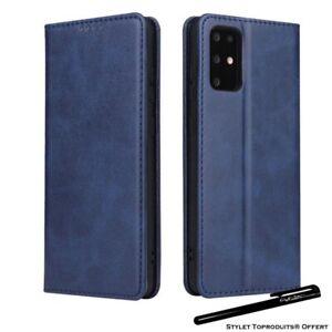 Etui portefeuille Bleu pour Samsung S20 S20Plus S20Ultra Housse protection