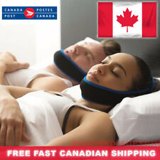 New Anti-Snore sleep Apnea CPAP Chin Jaw Strap Mouthpiece Canadian seller. Blue
