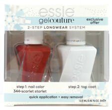 Essie Gel Couture Nail Polish 344 Scarlet Starlet + Top Coat Duo