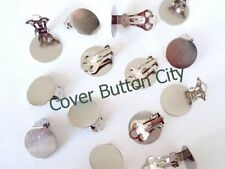 12 (6 pairs) Clip On Earrings 15mm Pad