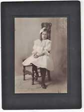 Cabinet Photo of Young Girl w Curls on Chair-Oakland, Calif. Very Nice Condition