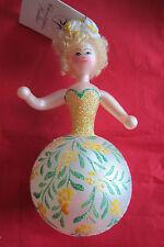 Christopher Radko BELLES OF THE BALL/Lady/Yellow Italian Christmas ornament, New