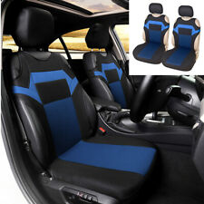 Front 2-piece Polyester Car Seat Cover Fabric T-shirt Design Style Black/Blue