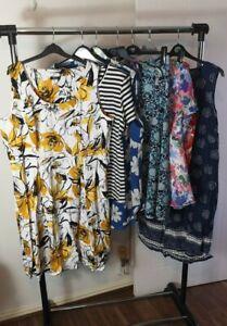 Womens Ladies Clothes Bundle Size 22 Midi Skirt Blouse Dress Shirt Top Tshirt X9