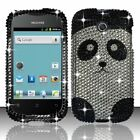 For Huawei Ascend Y H866C Crystal Diamond BLING Hard Case Phone Cover Panda