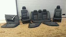 BMW E60 Fahrer Beifahrer Sitz Leder Dakota schwarz + Rückbank + Türverkleidung